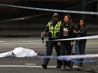 Melbourne, Australia, knife attacker stabs three in busy street