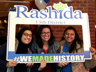 Rashida Tlaib's family in the West Bank cheer her election to Congress