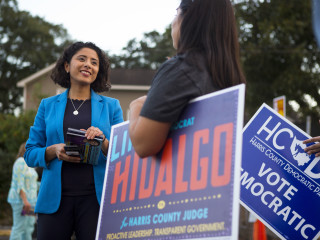 Lina Hidalgo is first Latina and first woman elected to lead Texas' most populous county