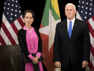 Vice President Mike Pence confronts Myanmar's Suu Kyi over Rohingya persecution