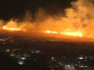 Sierra Fire erupts near Los Angeles, bringing another challenge to first responders
