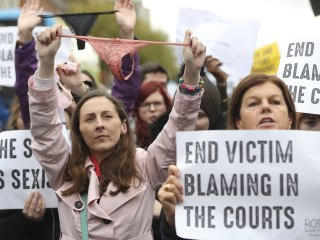 #ThisIsNotConsent protesters wave underwear after Ireland rape trial sparks fury