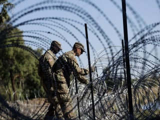 Trump admin wants to send more troops to border to string concertina wire