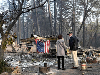 Trump visits California wildfire zones after criticizing forest management