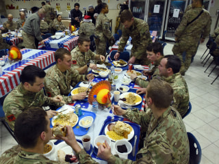 Why is the Pentagon sending so many pies to our troops this Thanksgiving?