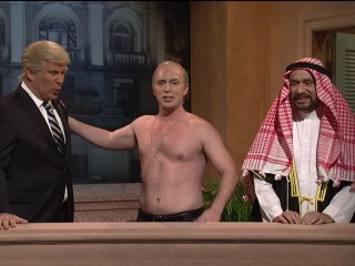 On 'Saturday Night Live,' Alec Baldwin's Trump yearns for bromance of Putin and MBS