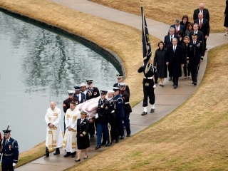 'Courage of a warrior': George H.W. Bush laid to rest in Texas after emotional tributes from family, friends