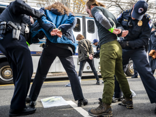 More than 100 arrested in climate action protest outside Pelosi's Capitol Hill office