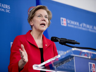 Warren takes veiled swipe at Trump in speech to new grads, says she is 'optimistic' about future