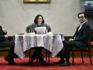 Taiwan president calls for international support against Chinese threats