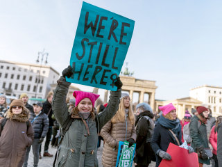 Third women's march faces winter weather, a shutdown and anti-Semitism charges