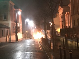 No apparent injuries in suspected Northern Ireland car bomb
