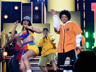Grammy winners Cardi B and Bruno Mars reunite for new single 'Please Me'