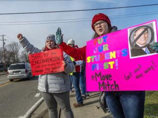 West Virginia teachers going on strike. Again.