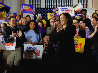 Kamala Harris confronts the 'elephant in the room' on the campaign trail