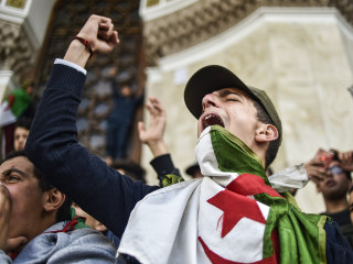 Algerian president back home amid mass protests against him