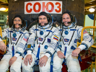 2 astronauts, 1 cosmonaut launch to the International Space Station