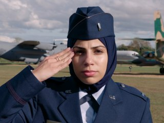Becoming the first to wear the hijab in the Air Force
