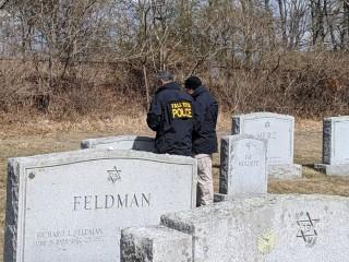 Swastikas, other anti-Semitic graffiti defaces Jewish cemetery in Massachusetts