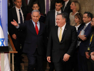 Beset in Israel and facing a tough re-election, Netanyahu clings to Trump