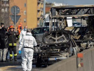 Bus driver in Italy abducts 51 children, sets vehicle on fire