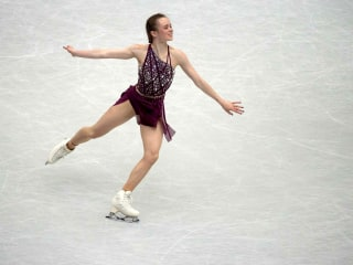 Korean figure skater's team claims American hit her with skate during world championship practice