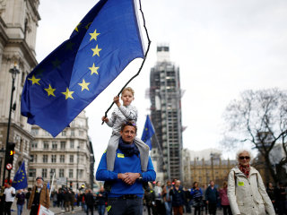Anti-Brexit marchers flood into London, demand new vote