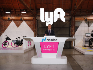 Rideshare giant Lyft went public today — and major investor GM could rake in $1.3B
