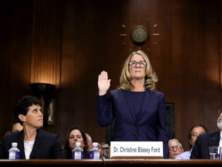 Kavanaugh accuser Christine Blasey Ford makes rare appearance to accept award