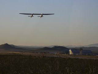 Stratolaunch, the world's largest airplane, takes first flight
