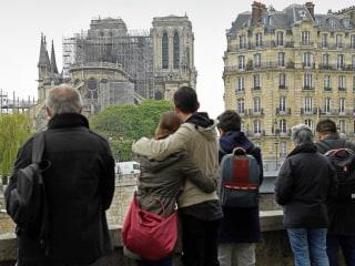 Fire out, Parisians grieve for beloved Notre Dame