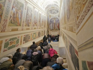 Rome's 'Holy Stairs' uncovered for first time in 300 years