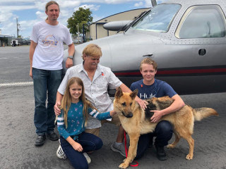 Stolen dog is reunited with family after being found 2,000 miles from home