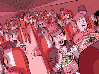 Want to go to the movies? There's an airplane for that