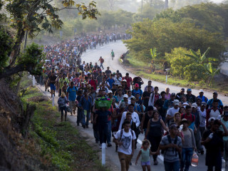 Migrants traveling through Mexico see less support, aid