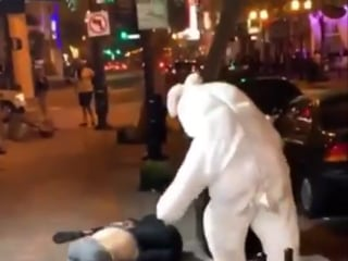 Easter Bunny throws punches in Orlando brawl caught on video