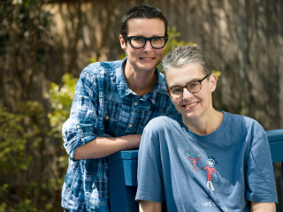 Palliative care power couple faces cancer at home