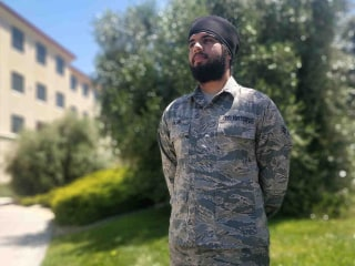 Sikh American to be first in Air Force allowed to keep turban and beard on active duty
