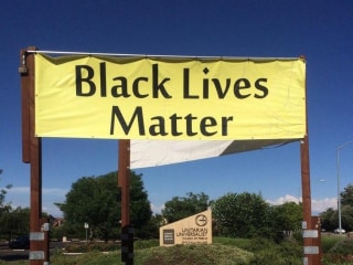 Church claims it's no longer a polling station because of Black Lives Matter banners
