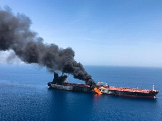 U.S. blames Iran for 'blatant assault' on oil tankers in Gulf of Oman