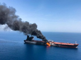 Saudi prince vows to confront threats after U.S. blames Iran for tanker attacks