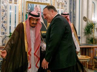 Pompeo visits Saudi, but no word on whether he'll bring up Khashoggi killing