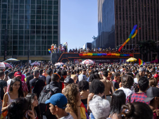 Brazil's largest city draws hundreds of thousands for Pride march