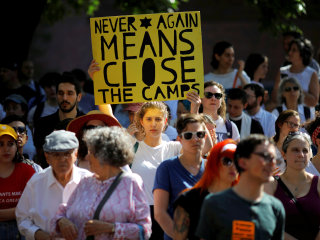 'Never again means close the camps': Jews protest ICE across the country