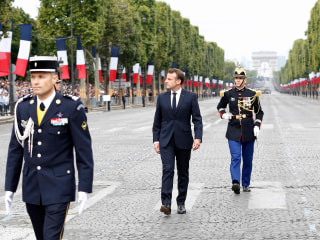 European leaders join Macron for Bastille Day parade as France trumpets shared defense