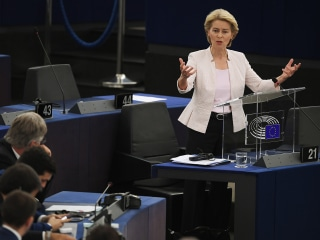 Europe's new top politician Ursula von der Leyen faces challenges over Brexit, economic reforms
