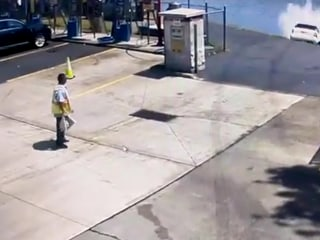 Video shows SUV driver leaving car wash, plunging car accidentally into New Jersey river