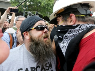 Far-right rally in Portland met by anti-fascist protesters