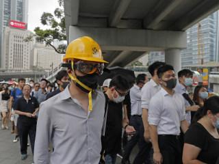 Hong Kong accountants walk off the job, joining protests in Asian financial hub