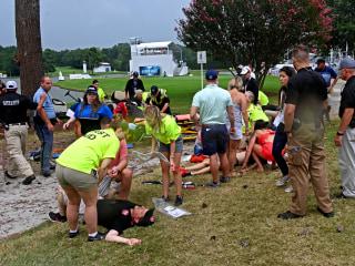 Six injured in lightning strike at PGA tournament in Atlanta